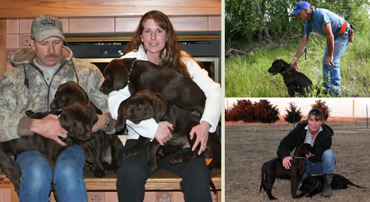 Richard & Darlene Kasten of Red Cedar Acres Labrador Retrievers